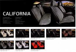Fashion Накидка-чехол для сидений California серый (пара)