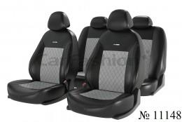 Чехлы для сидений Atom romb черный (комплект) Fashion