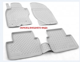 Unidec Коврики салонные для Mercedes-Benz A (W176) 3D (2012)CLA (C117) 3D (2013)GLA (X156) 3D (2014) Серый
