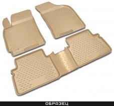 Коврики в салон VW Passat CC 02/2009->, 4 шт. (полиуретан, бежевые)