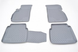Коврики салонные для Hyundai Santa Fe (SM) (2000) серый Unidec