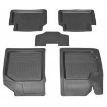 Резиновые глубокие коврики Chevrolet Aveo/ZAZ Vida ЗРТИ