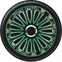 Колпаки для колес Lemans Pro Green Black R14 4 Racing