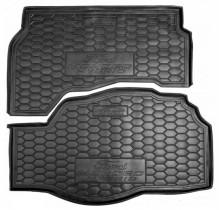 Коврик в багажник FORD Fusion/Mondeo V (2015>) (hybrid) (седан, c 2-х частей) AvtoGumm