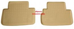 Unidec Коврики салонные для Nissan Qashqai+2 (2008) (зад) Бежевый