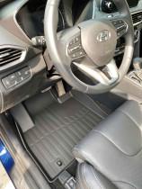 Коврики в салон резиновые 3D LUX Hyundai Santa Fe IV (2018-) САРМАТ
