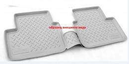 Коврики салонные для Nissan Qashqai (J11) (2014) (зад) Серый Unidec