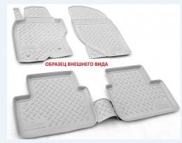 Коврики салонные для Nissan Qashqai (J11) 3D (2015) (российская сборка) Серый