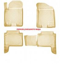 Коврики салонные для Nissan Sentra (B17) 3D (2014) Nissan Tiida (C12) 3D (2011) Бежевый
