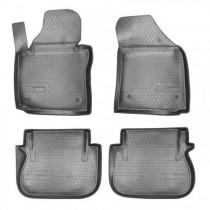 Коврики салонные для Volkswagen Caddy III (2004-2015)Caddy IV (2015) (2 задн.сдвижные двери) Unidec