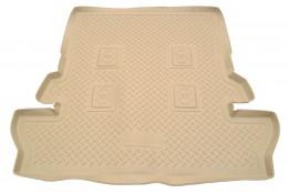 Коврики в багажник Toyota LC-200 (J20A) (2007) (7 мест) Бежевый Unidec