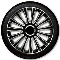 Колпаки для колес Le Mans Pro Silver Black R13 (Комплект 4 шт.) 4 Racing