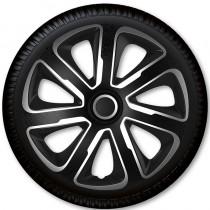 4 Racing Колпаки для колес Livorno Carbon Silver Black R13 (Комплект 4 шт.)