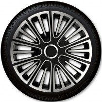 4 Racing Колпаки для колес Motion Silver Black R13 (Комплект 4 шт.)