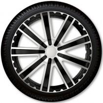 4 Racing Колпаки для колес Toro Silver Black R13 (Комплект 4 шт.)