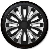 Колпаки для колес Avalon Carbon Silver Black R13 (Комплект 4 шт.) 4 Racing