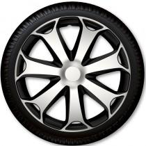 4 Racing Колпаки для колес Mega Silver Black R16 (Комплект 4 шт.)