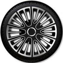 4 Racing Колпаки для колес Motion Silver Black R14 (Комплект 4 шт.)