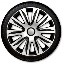 Колпаки для колес Nardo Silver Black R16 (Комплект 4 шт.) 4 Racing
