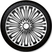 4 Racing Колпаки для колес Volante Silver Black R17 (Комплект 4 шт.)