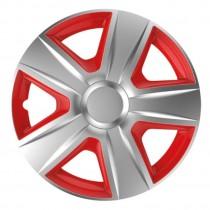 Колпаки для колес Esprit silver&red R13 (Комплект 4 шт.) Elegant