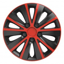 Elegant Колпаки для колес Rapid red&black R16 (Комплект 4 шт.)
