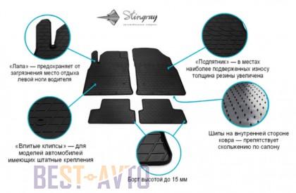 Stingray Коврики резиновые Audi A3 03-/Skoda Octavia A5/VW Golf V/Golf VI/Jetta 05- передние
