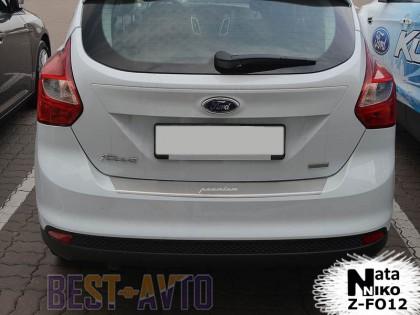 NataNiko Накладка с загибом на бампер Ford Focus III 5D 2011-2015