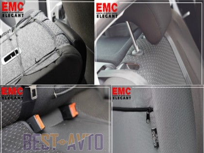 EMC-Elegant Чехлы на сидения Skoda Fabia (6Y) Combi/Hatch (цельная) с 2000-07 г