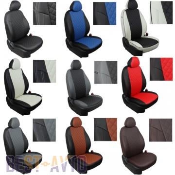 FavoriteLux Romb Авточехлы на сидения Skoda Fabia (5J) Hatch (раздельная) 2007 г
