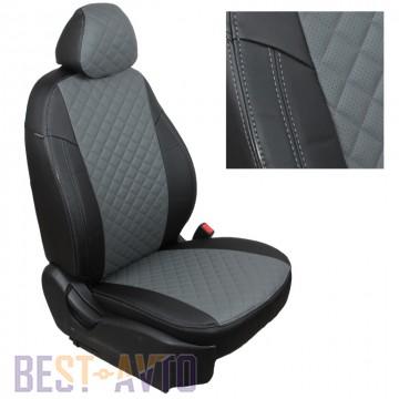 FavoriteLux Romb Авточехлы на сидения Skoda Fabia (6Y) Combi/Hatch (цельная) с 2000-07 г