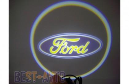 Проекция логотипа Ford. Проводные проекторы 5Вт