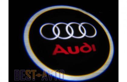 Проекция логотипа Audi . Беспроводные проекторы 7 Вт