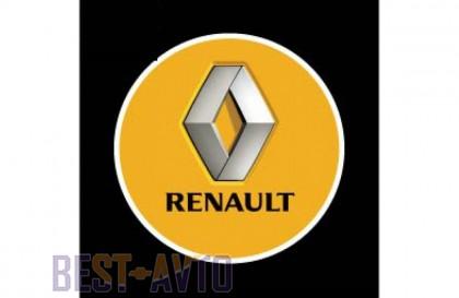 Проекция логотипа Renault. Беспроводные проекторы Renault 7 Вт