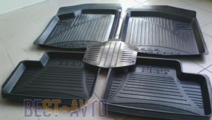 ЗРТИ Резиновые глубокие коврики ВАЗ 2108, 2109, 21099 (передние)