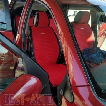 Fashion Накидка для сидений Monaco Plus красныйй (комплект)