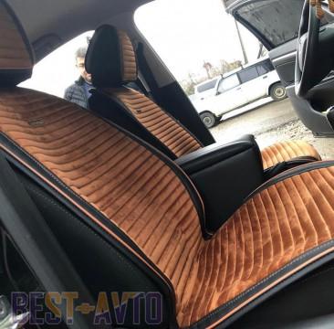 Fashion Накидка для сидений Monaco Front коричневый (передние)
