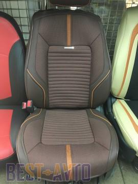 Fashion Накидка-чехол для сидений Sector коричневый (пара)