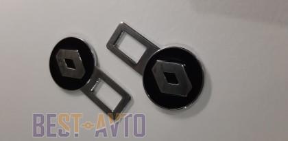 Заглушки ремней безопасности Renault (черный)