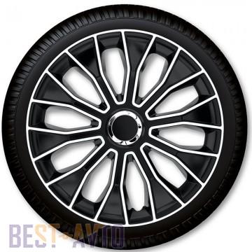 4 Racing Колпаки для колес Voltec Pro Black White R13 (Комплект 4 шт.)