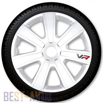 4 Racing Колпаки для колес VR Carbon White R13 (Комплект 4 шт.)