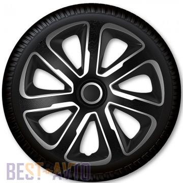 4 Racing Колпаки для колес Livorno Carbon Silver Black R14 (Комплект 4 шт.)