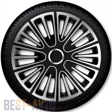 4 Racing Колпаки для колес Motion Silver Black R16 (Комплект 4 шт.)