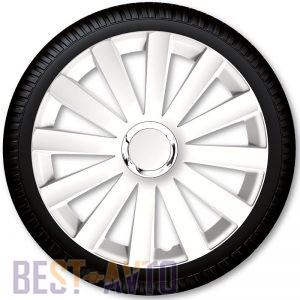 4 Racing Колпаки для колес Spyder Pro White R17 (Комплект 4 шт.)