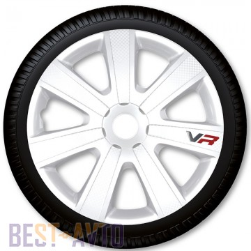 4 Racing Колпаки для колес VR Carbon White R16 (Комплект 4 шт.)