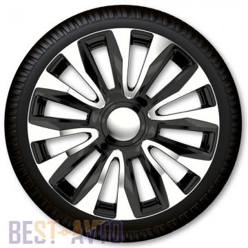 Max6 Колпаки для колес Avalon Chrome & Black R14 (Комплект 4 шт.)